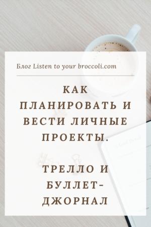 Блог Listen to your broccoli Планирование Трелло и Буллет-джорнал